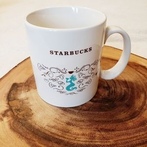 Starbuck's | Vintage Mermaid  Aqua Swirls 18oz Mug